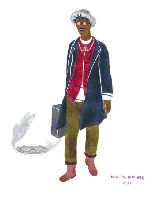 Ilustração de personagem de moda