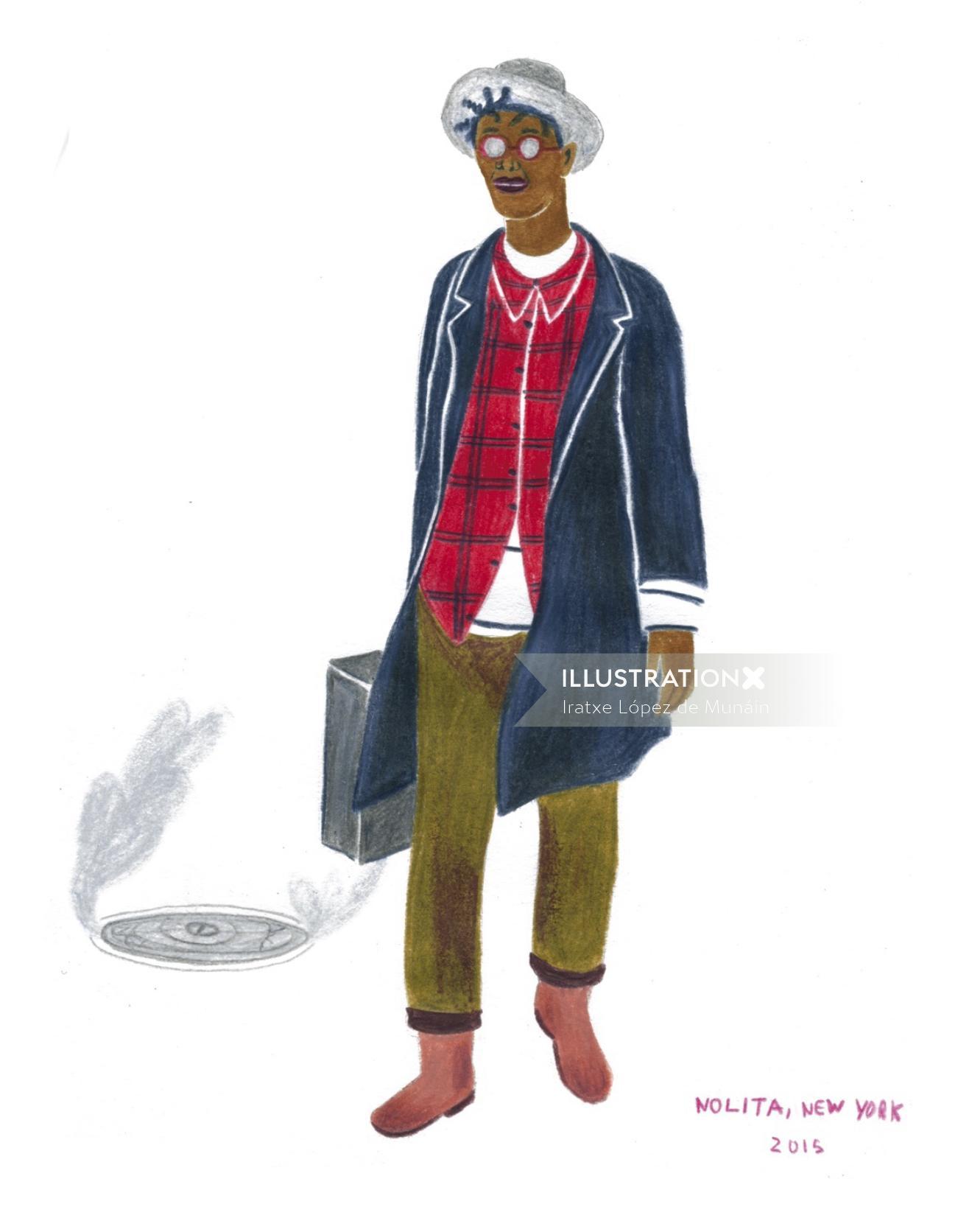 Illustration of fashion character