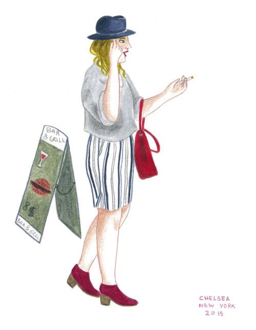 Ilustração de personagem de estilo de vida