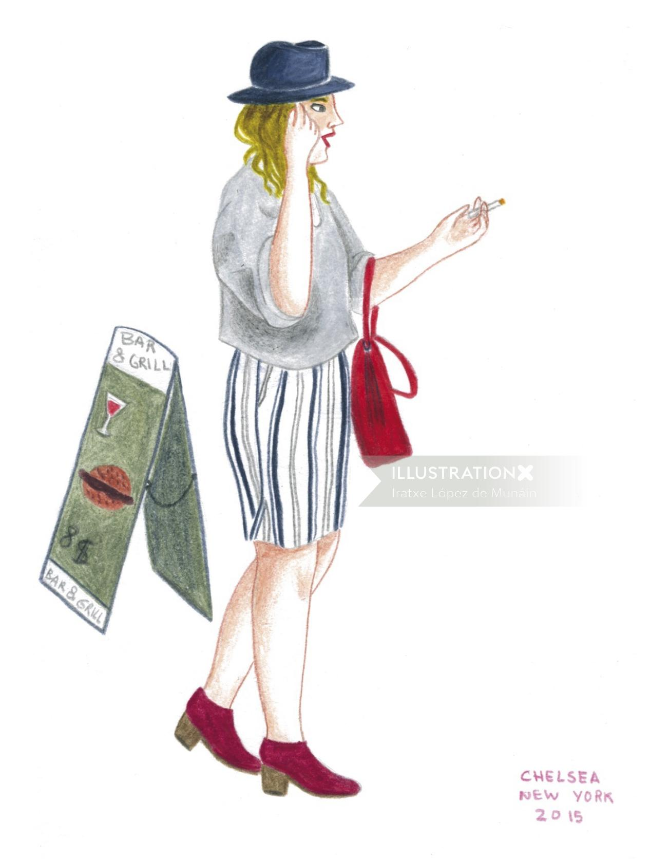 Illustration of lifestyle character