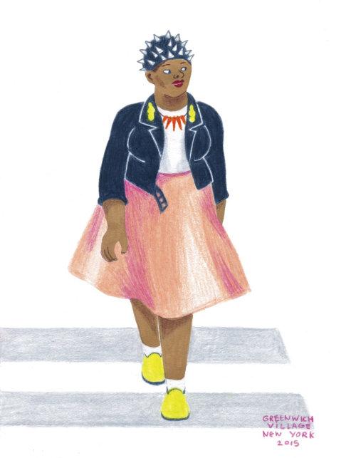 Ilustração de personagem feminina