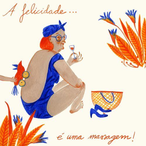 Lifestyle Illustration for Felicidario in Portugal.