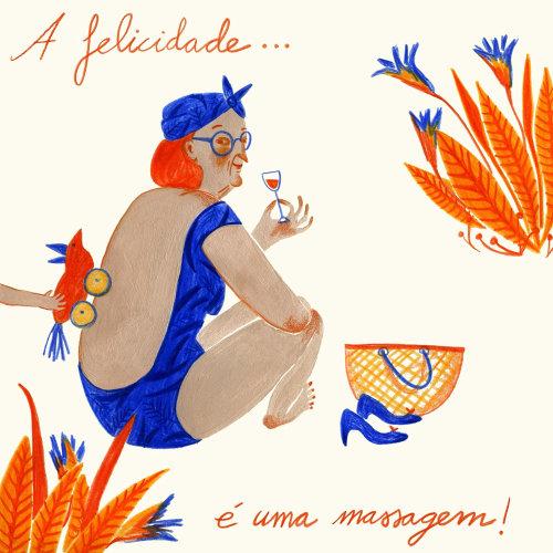 Ilustração do estilo de vida para Felicidario em Portugal.