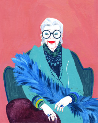 Illustration of Iris Apfel