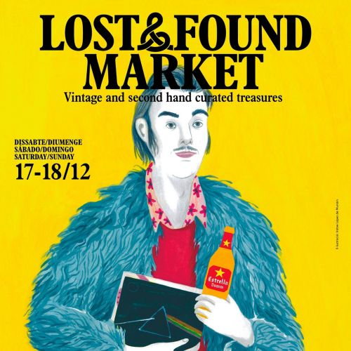 Posters design for the Lost&Found Market in Barcelona