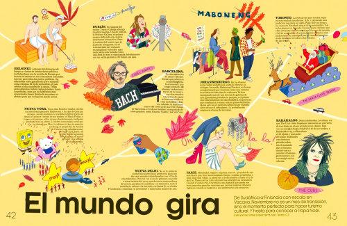 Mapa ilustrado para Magazine