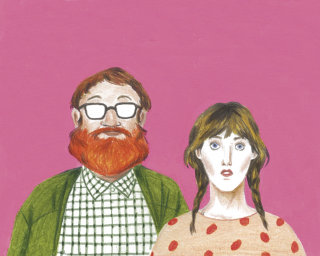 Portrait of hipster couple