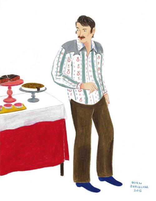 Illustration of man by Iratxe López de Munáin