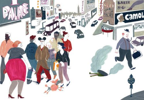 Pencil artwork of street