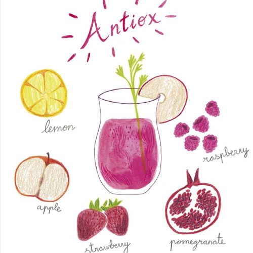Illustration of recipe Antiox juice.