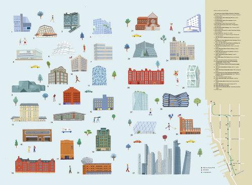 Ilustração dos ícones do mapa por Iratxe López de Munáin