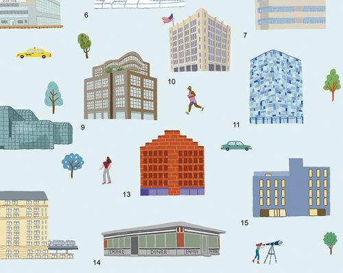 Aquarela, desenho de ícones de construção