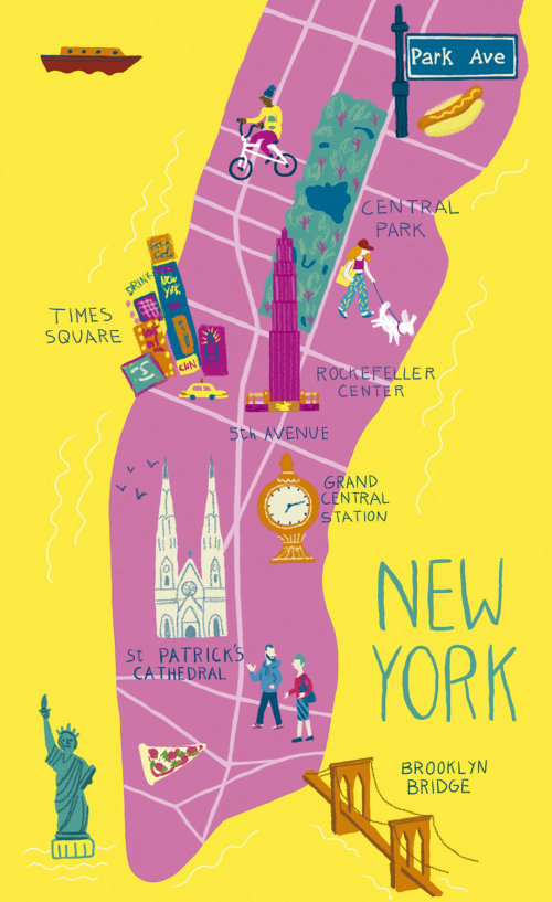 Graphic design of New York map
