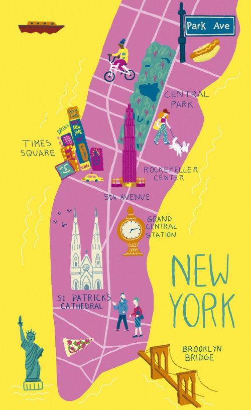 Design gráfico do mapa de Nova York