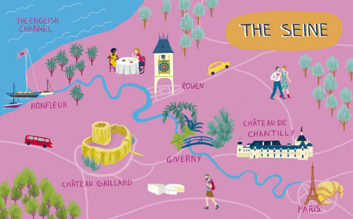 Ilustração do mapa do Sena