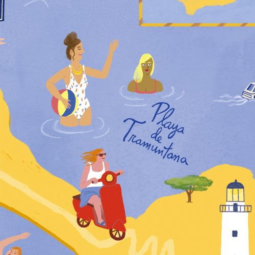 Map illustration of Formentera