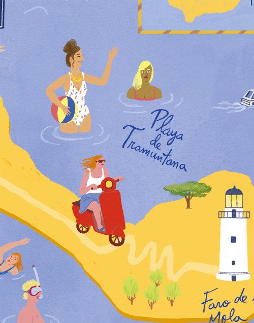 Ilustração do mapa de Formentera