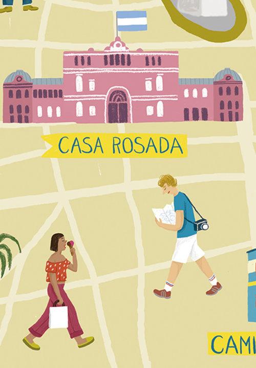 Ilustração do estilo de vida de Buenos Aires