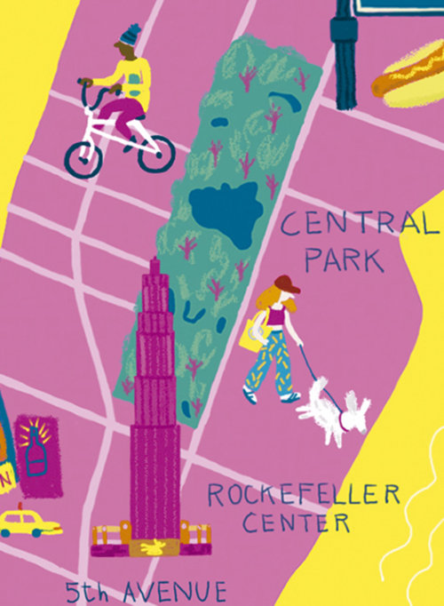 Design de mapa de Nova York por Iratxe López de Munáin