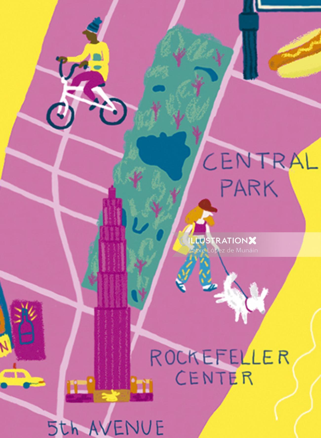 New York map design by Iratxe López de Munáin