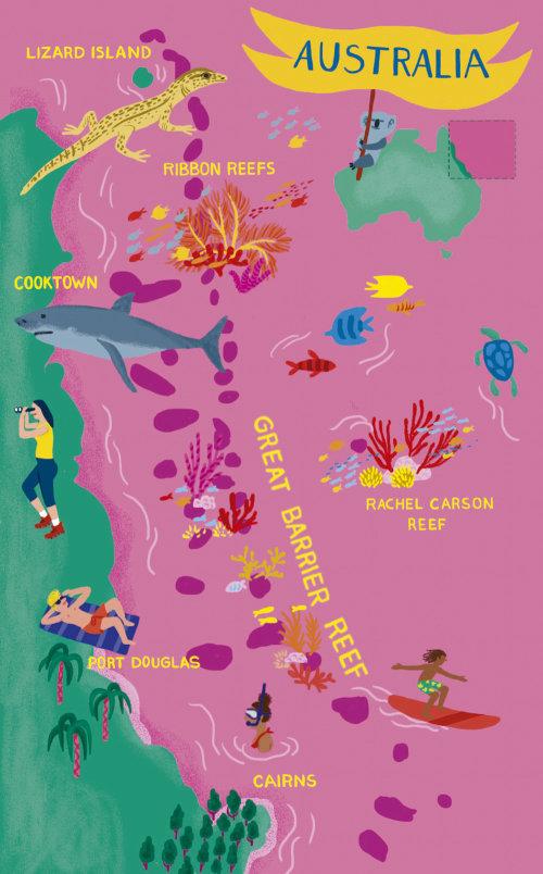 Mapa da ilustração da Austrália
