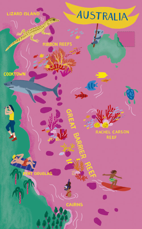 Illustration  map of Australia