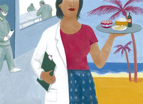 Ilustração da vida em Cuba