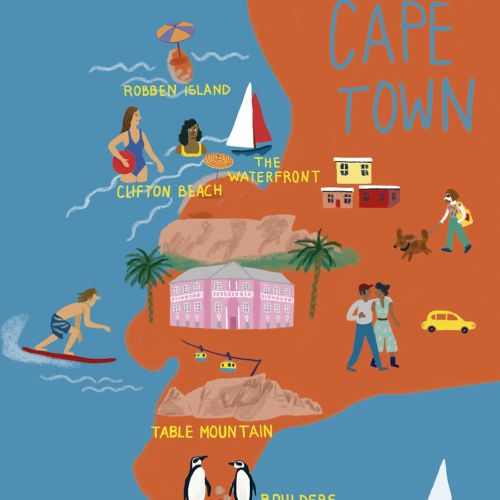 Map illustration of Cape town