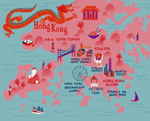 City Map of Hong Kong.