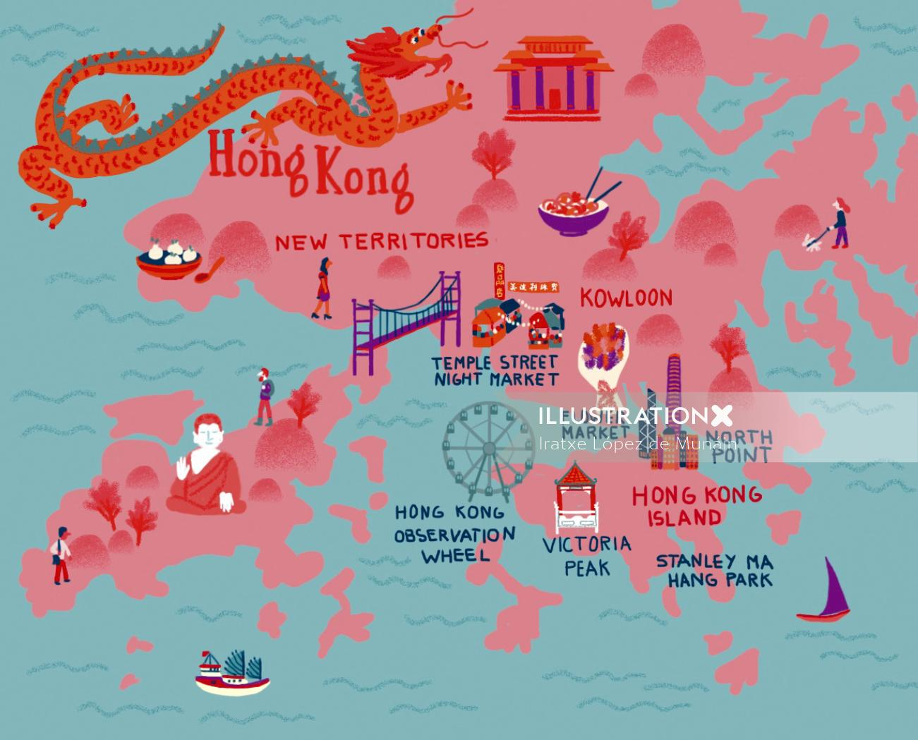 City Map of Hong Kong.