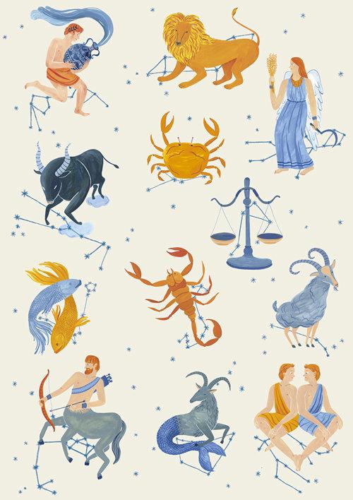Signos do zodíaco para o planetário de Xangai.