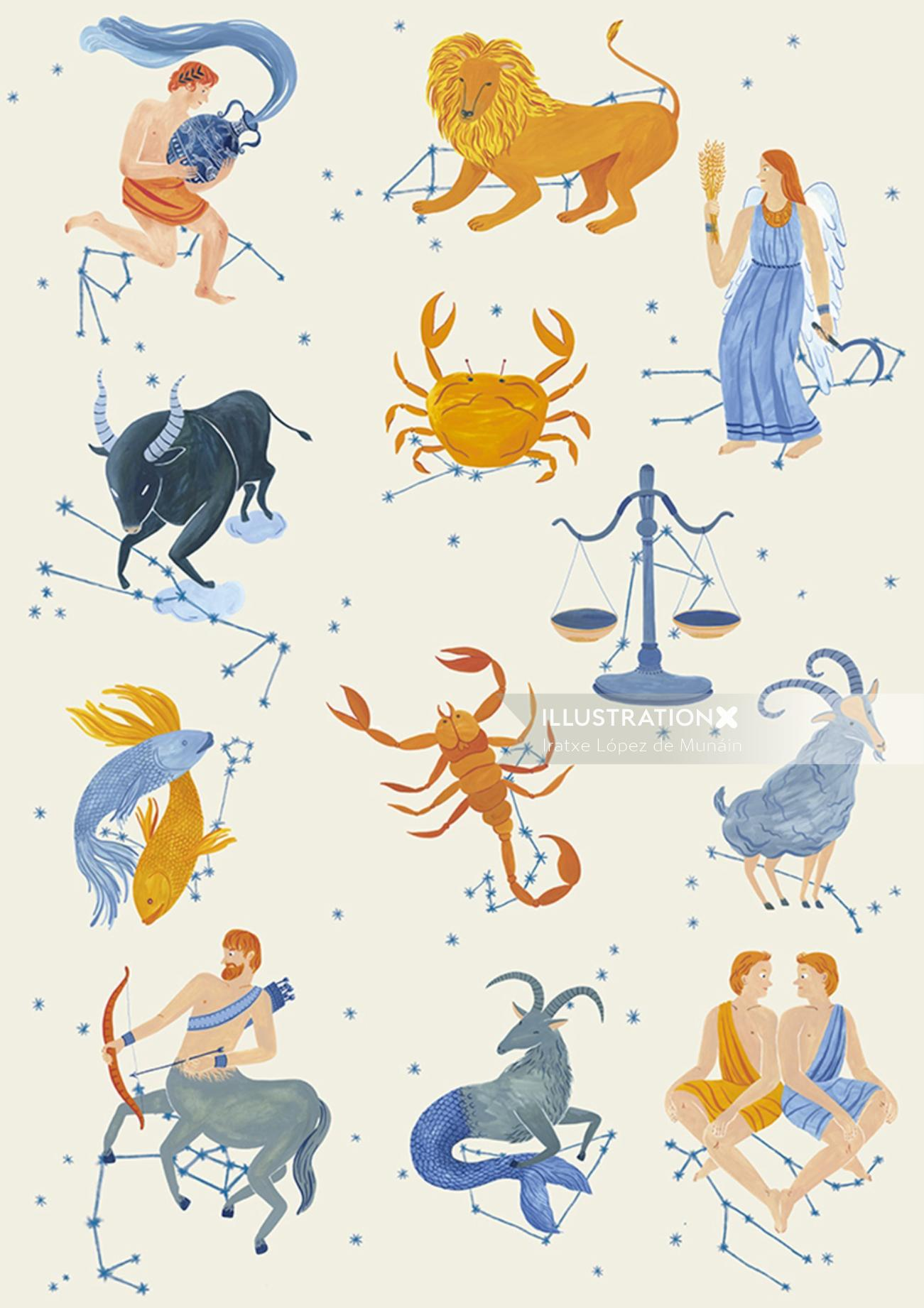 Signs of the zodiac for the Shanghai planetarium.