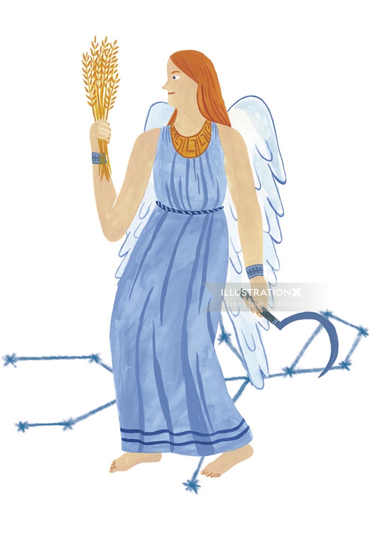 horoscope, people, life style, magazine, flatcolour,