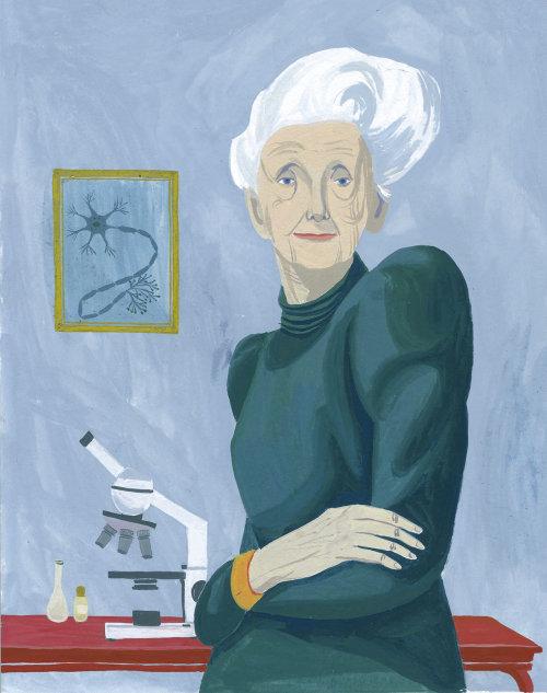 Old women graphic portrait art