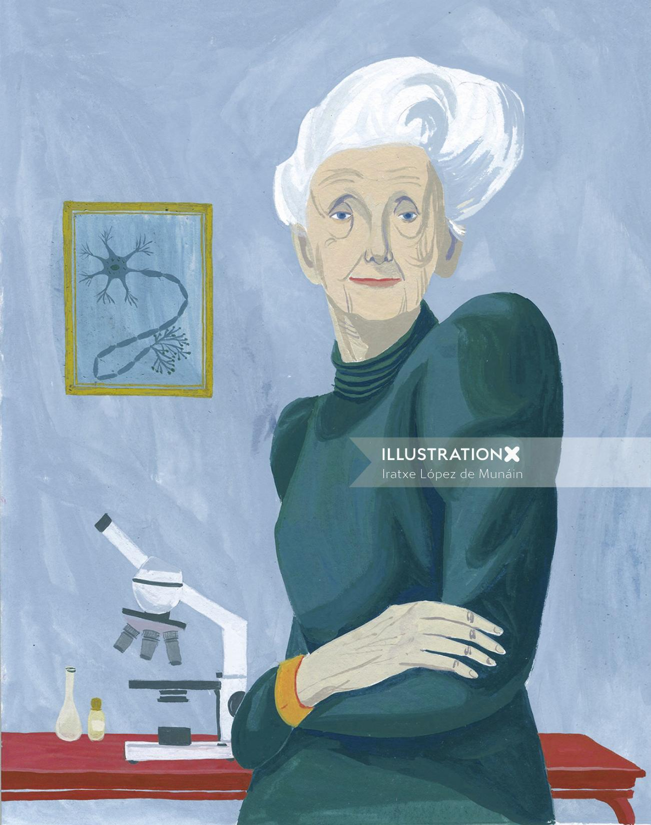 Old women graphic portrait art