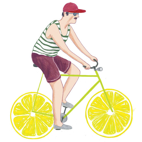 menino, bicicleta, verão, moda, legal, na moda, personagem, hipster