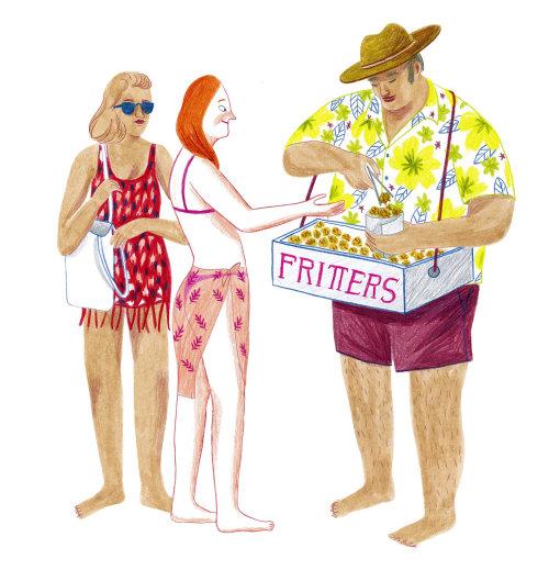 moda, camiseta, camisa, meninas, praia, menino, personagem, primavera