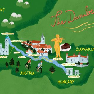 The Danube map for The Chelsea Magazine UK
