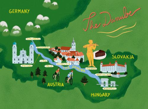 O mapa do Danúbio para a Chelsea Magazine UK