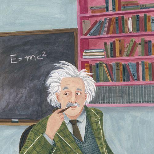 Portrait art of Einstein