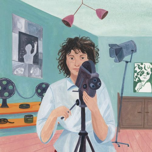 Graphic design of girl with camera