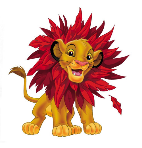 Cartoon illustration of lion