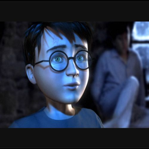 Graphic portrait of Young Harry Potter