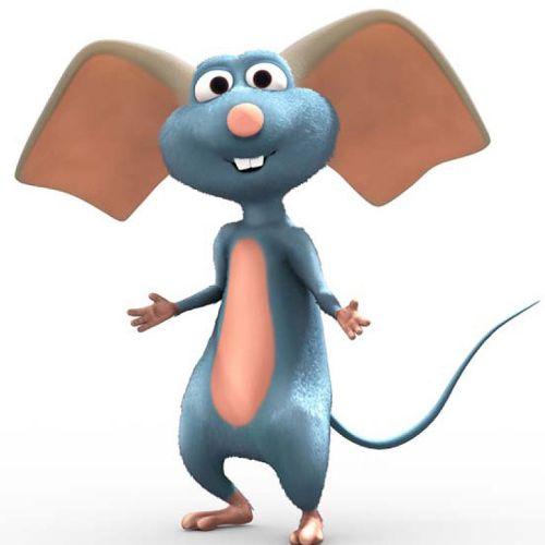 Big ears mouse cartoon illustration