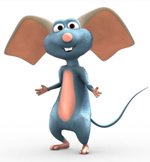 Big ears mouse cartoon illustration