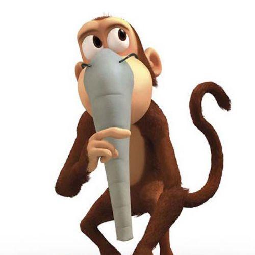 Cartoon illustration of Cheeky Monkey