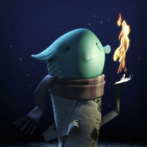 Cgi illustration of fishy