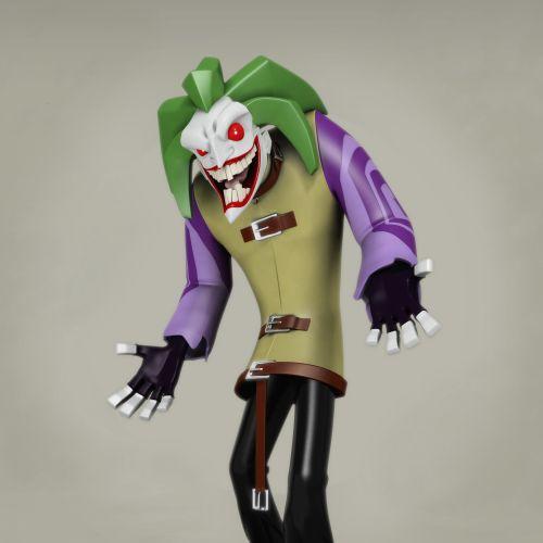 Cgi rendering design of The Joker