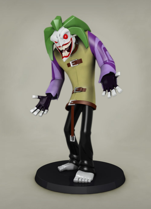 Cgi rendering design of The Joker