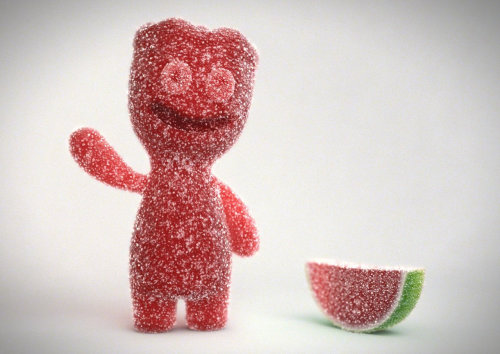 Character design of Sour Patch
